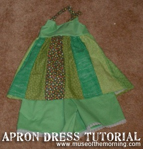 Apron Dress Tutorial from Muse of the Morning