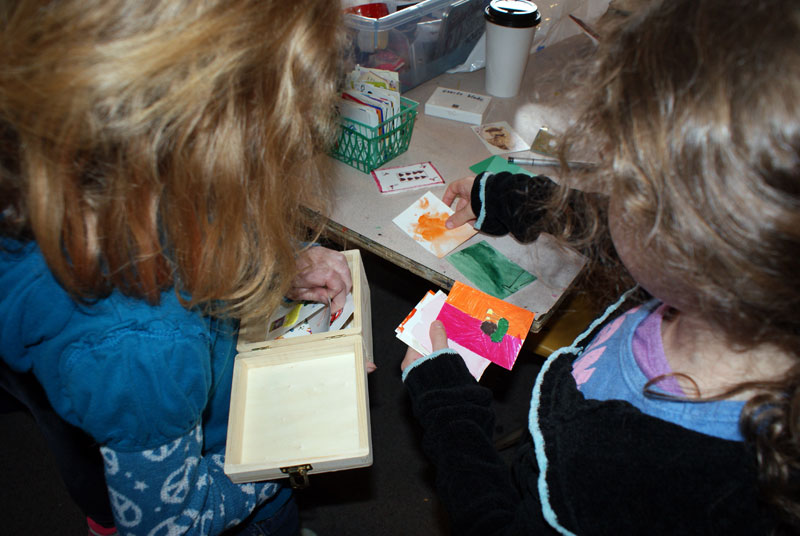 making ATCs with kids
