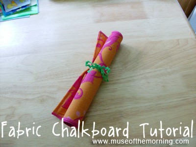fabric roll-up chalkboard tutorial from Muse of the Morning