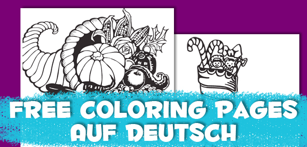 Holiday Coloring Pages auf Deutsch from Muse of the Morning