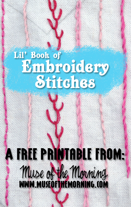 Free Printable Lil Book Of Hand Embroidery Stitches Pocket Size