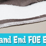 How To Start And End FOE (fold over elastic) A Little Easier