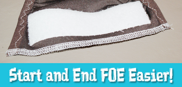 How To Start And End FOE (fold over elastic) A Little Easier from Muse of the Morning