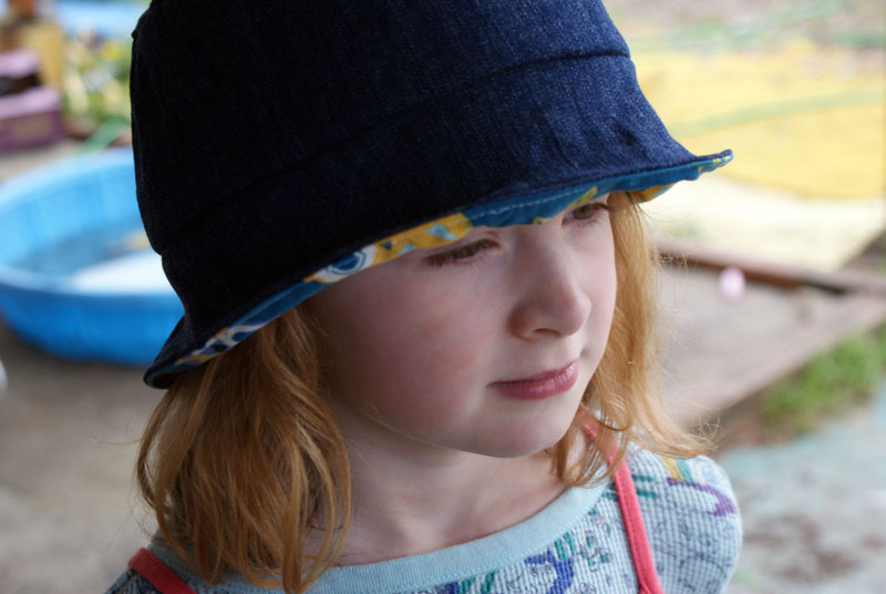 Free Sewing Pattern for a Summer Bucket Hat from Muse of the Morning