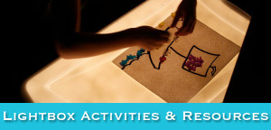 Activities & Materials For The Lightbox - from Muse of the Morning