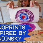 Kandinsky Inspired Monoprints