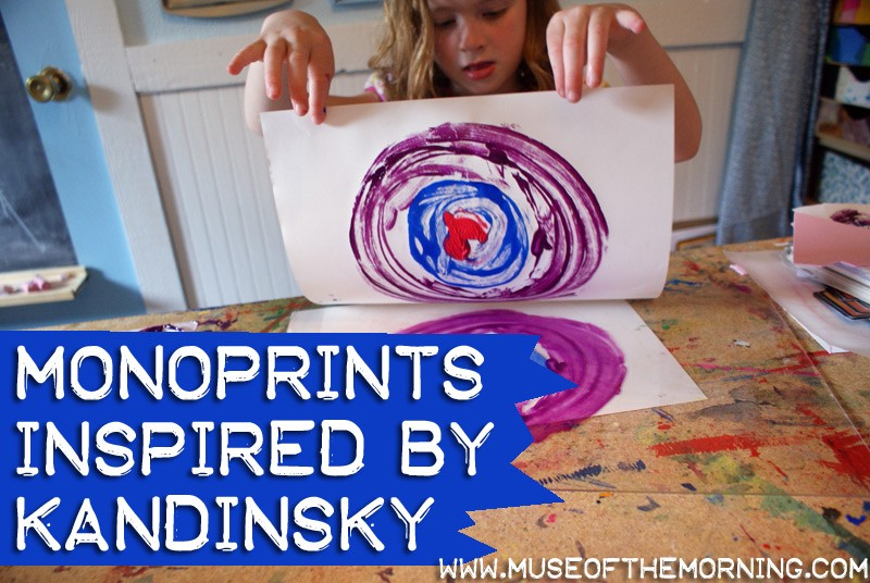 Kandinsky Inspired Monoprints Tutorial