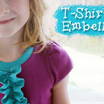 Tutorial: Ruffle Front T-shirt Embellishment