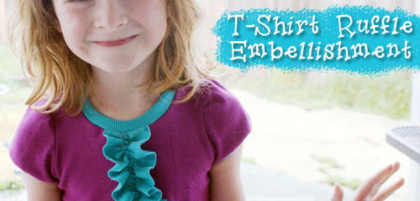 Tutorial: Ruffle Front T-shirt Embellishment from Muse of the Morning