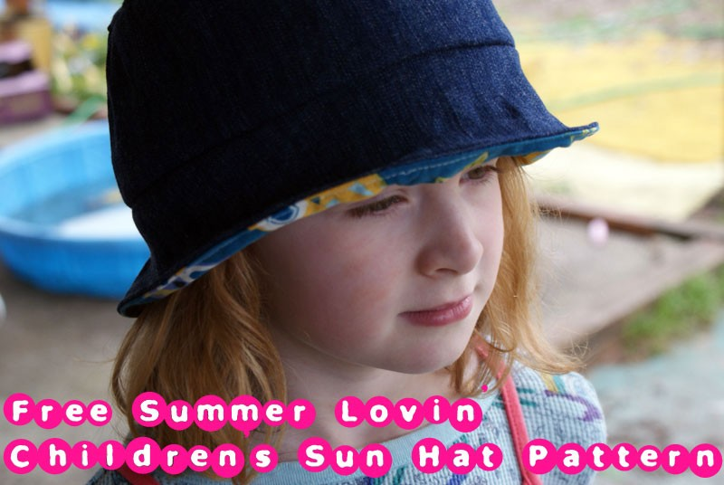 Free Sewing Pattern - Summer Lovin Children's Sun Hat