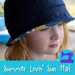 Summer Lovin' Children's Sun Hat- A FREE sewing pattern from Muse of the Morning