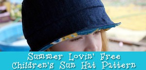Free Pattern: Summer Lovin' Children's Sun Hat Pattern from Muse of the Morning