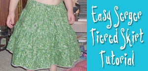 Make An Easy Tiered Skirt With Gathering Done On Your Serger from Muse of the Morning
