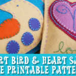 Printable Sewing Pattern: Appliqued Sachets or Ornaments