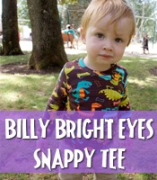 snappy tee for big baby heads, snaps at the shoulder sewing pattern