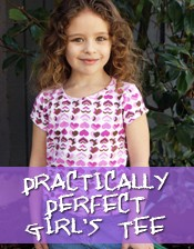 girls tee shirt, t-shirt, perfect tee sewing pattern