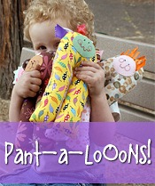 pantaloOoOns soft toy, baby chewy, rattle sewing pattern