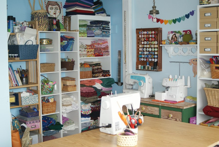 Muse of the Morning Beautiful Art and Sewing Studio Reveal