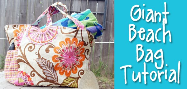 Make a Big Beautiful Beach Bag! - Tutorial from Muse of the Morning