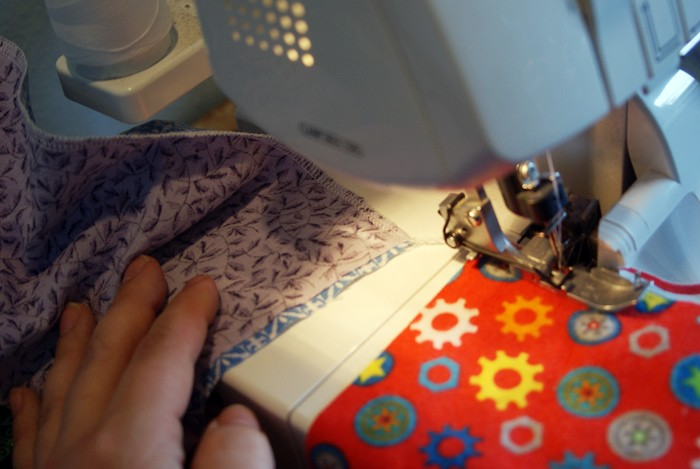 quick serging tip from Muse of the Morning