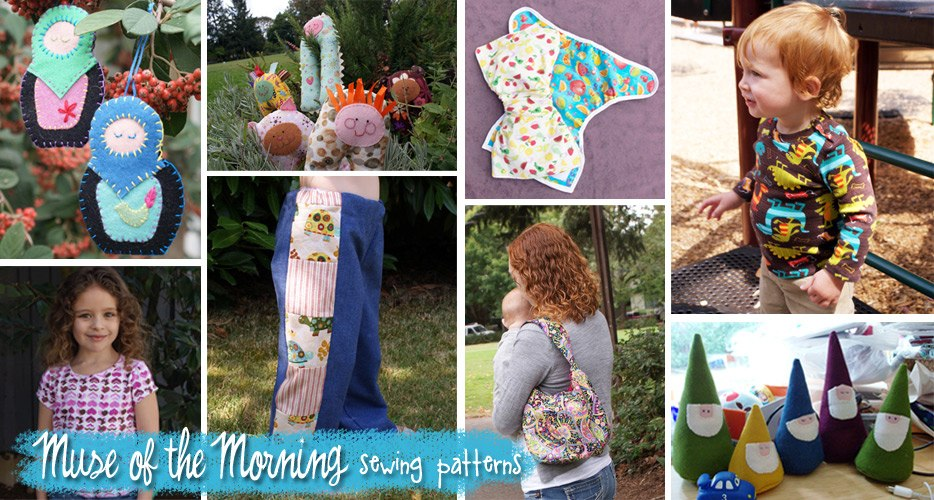 Muse of the Morning montage of a lot of our PDF sewing patterns