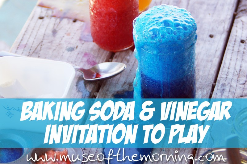 Baking Soda and Vinegar Invitation to Play with Muse of the Morning