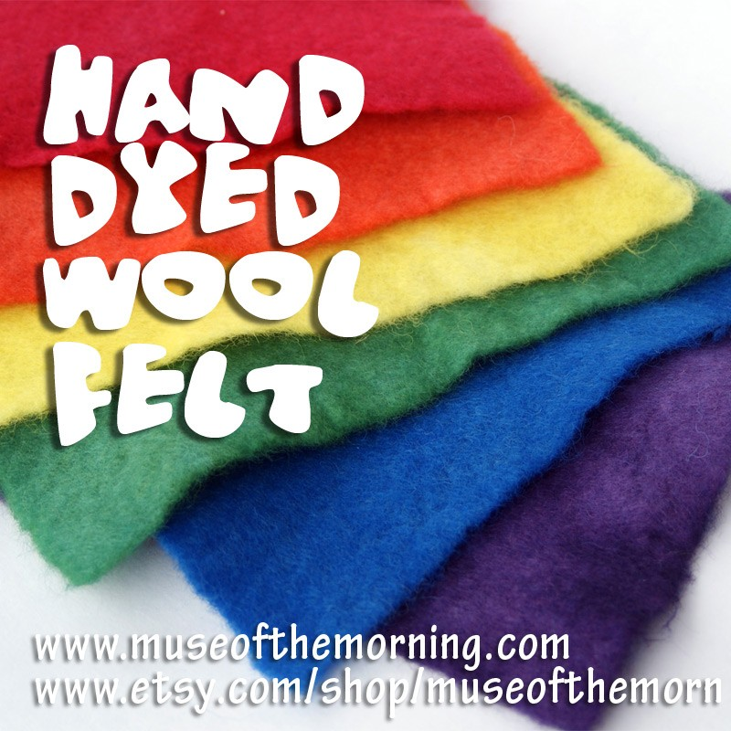 hand dyed wool felt from Muse of the Morning available on etsy!