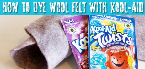 Learn how to dye wool blend felt with kool aid from Muse of the Morning
