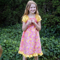 Easter Dress made with the Ramblin Ragland Mega Pattern Pack from Muse of the Morning