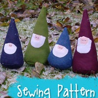 My Friendly Garden Gnomes a stuffed toy pattern from Muse of the Morning