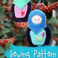 Matryoshka Russian Nesting Dolls Ornament Sewing Pattern from Muse of the Morning
