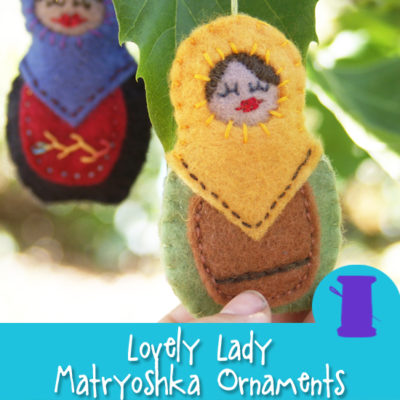 Lovely Lady Matryoshka Ornament Hand Sewing Pattern from Muse of the Morning