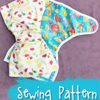 Artistry Baby Diaper Cover and One Size Mini Diaper Sewing Pattern from Muse of the Morning