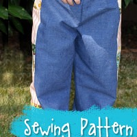 The Almost One Size Truly Scrumptious Pants Pattern from Muse of the Morning- pattern for patchy hippie pants, bloomers, pajama pants and more!
