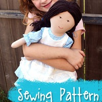 Playful Prudence Rag Doll Sewing Pattern from Muse of the Morning