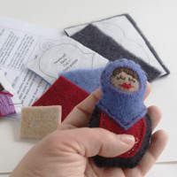 Matryoshka Ornament Sewing Pattern from Muse of the Morning