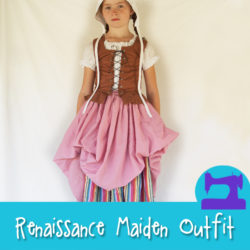 Complete Renaissance Maiden Outfit Sewing Pattern from Muse of the Morning