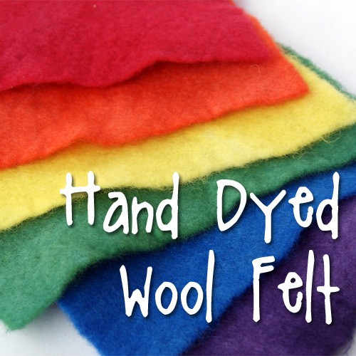 purchase hand dyed wool felt from Muse of the Morning available on etsy!