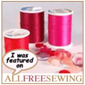 Muse of the Morning has been featured on AllFreeSewing.com