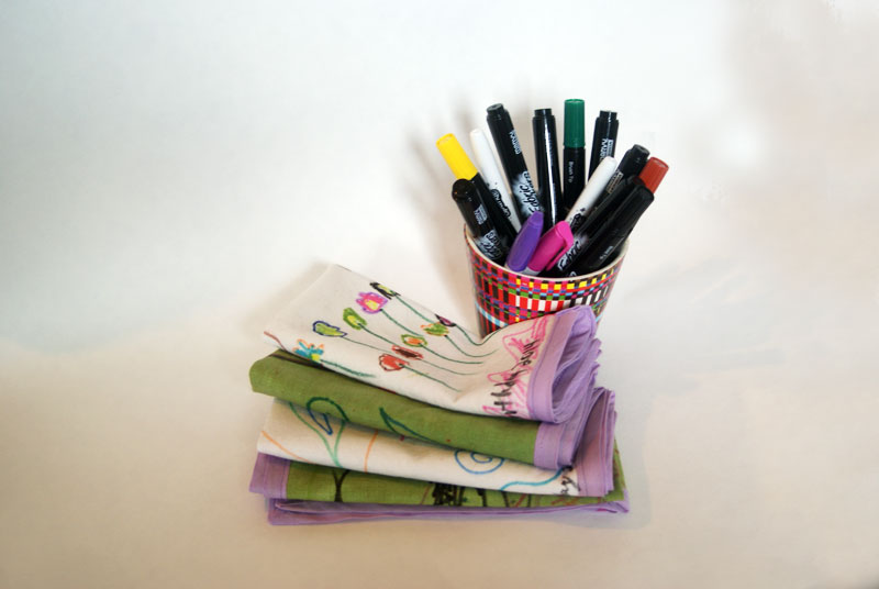 Decorated Cloth Napkins Tutorial from Muse of the Morning