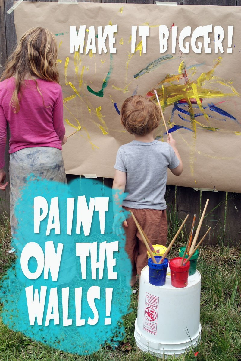 BIG MESSY ART! Make it Bigger - Paint the Walls with Muse of the Morning