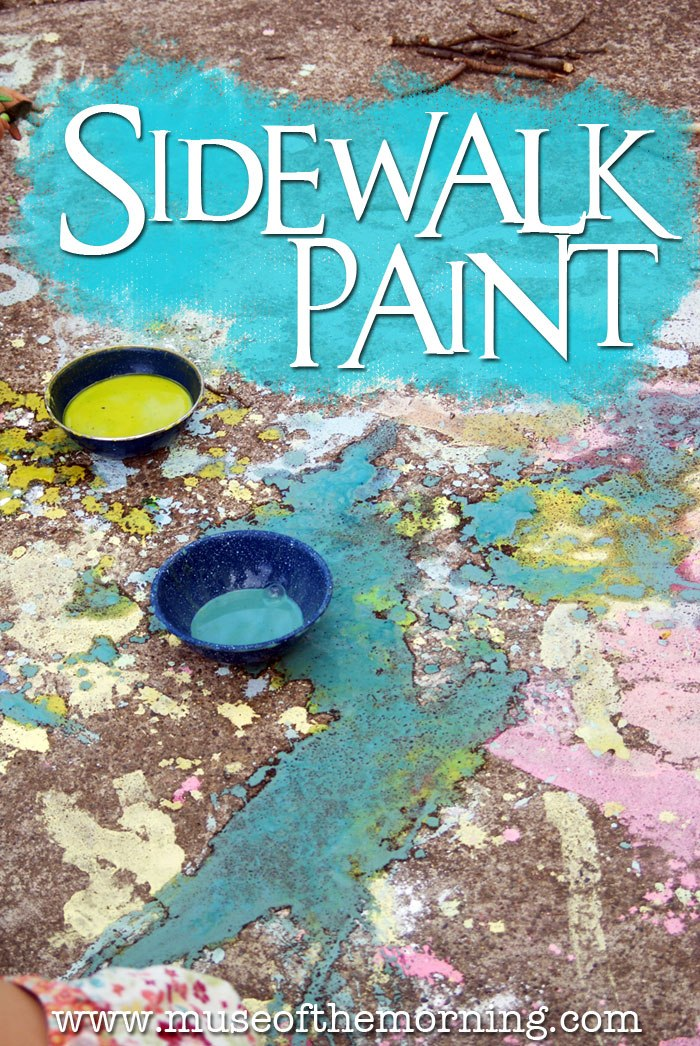 Big Messy Art: How to Make Sidewalk Paint