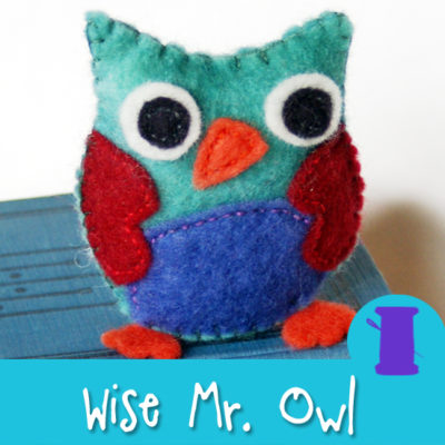 Wise Mr. Owl - a free Hand Sewing Pattern from Muse of the Morning