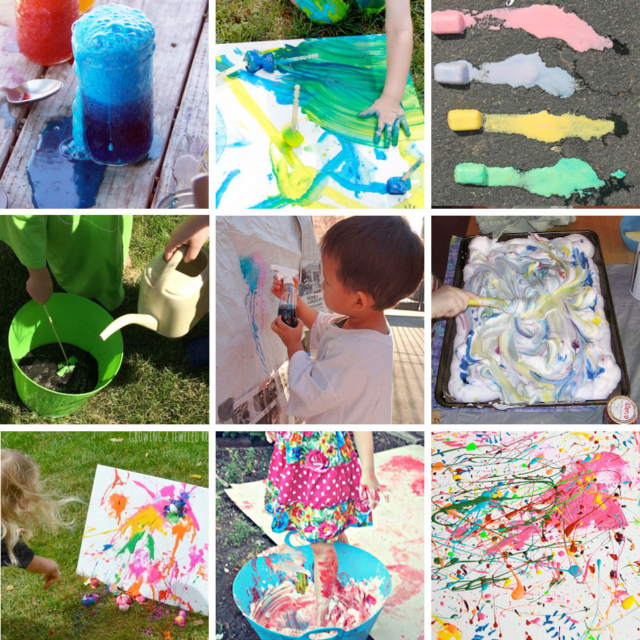 Make BIG MESSY ART! Weekend Inspiration to get messy and make some lovely art!