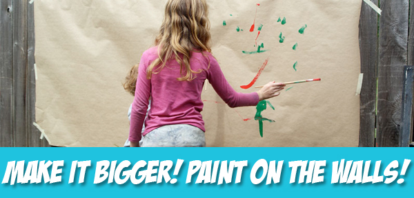 Big Messy Art: Paint on the Walls! from Muse of the Morning