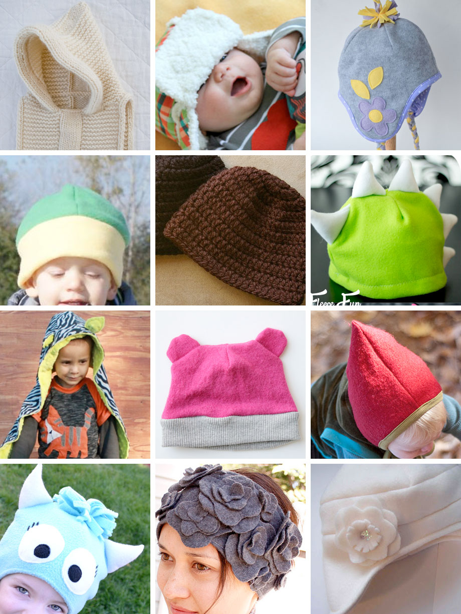 Warm Winter Hats Free Tutorials and Patterns on Muse of the Morning!