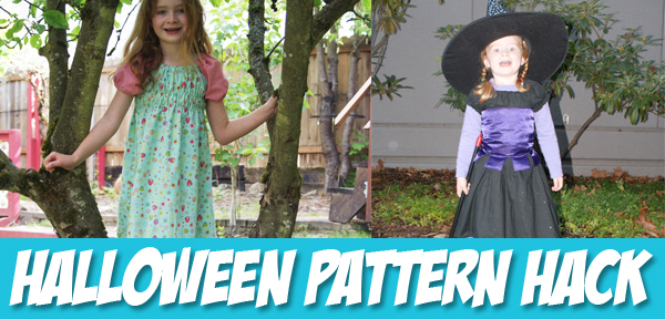 Halloween Pattern Hack - Turn the Ramblin' Raglan Pattern into a Halloween Costume - from Muse of the Morning