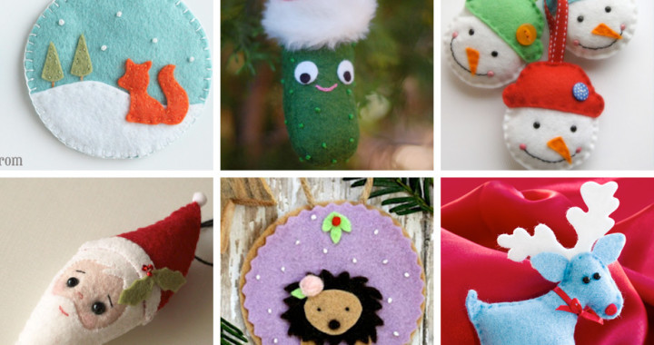 Weekend Inspiration: Felt Ornaments you can make with wool felt!