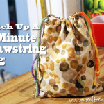 15 Minute Drawstring Bag Tutorial