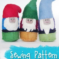 Darling Dwarves Stuffed Toys Sewing Pattern from Muse of the Morning